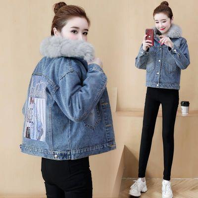 2020新款秋冬季牛仔外套女宽松韩版短款上衣时尚潮流夹克加绒外套