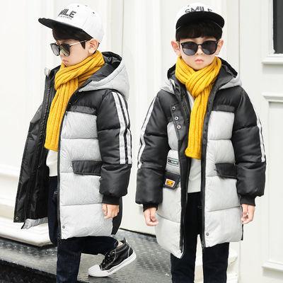 童装儿童棉服男童中大童加厚冬季2020年新款洋气连帽棉袄男孩棉衣