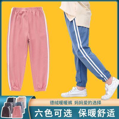 冬季纯棉男童女童加绒裤子韩版帅气保暖运动纯棉哈伦儿童束脚裤