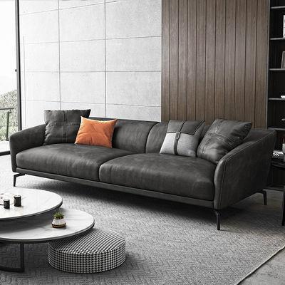 北欧ins风科技布艺沙发客厅小户型意式轻奢三人位四人位直排沙发