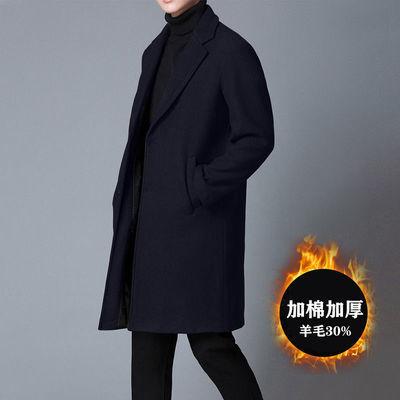 毛呢大衣外套男风衣中长款过膝羊毛绒秋冬季加厚韩版妮子休闲西装