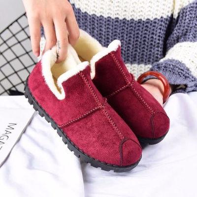 棉鞋女士2020秋冬新款加绒保暖休闲韩版豆豆防滑老北京布鞋一脚蹬