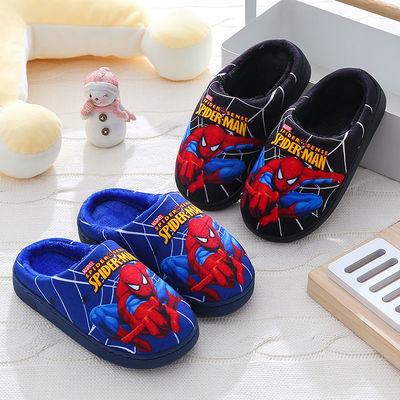 儿童棉拖鞋中大童冬季卡通防滑保暖小孩居家室内包跟棉鞋男女童潮