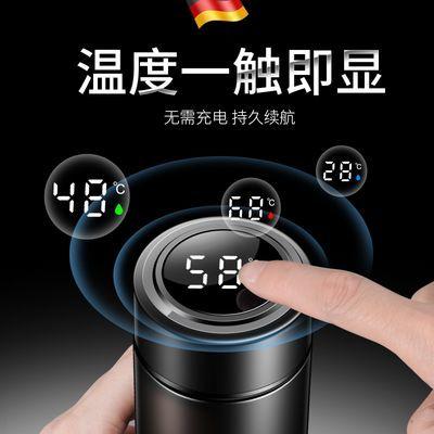 保温杯304不锈钢480ml大容量智能测温杯男女学生便捷商务泡茶杯子