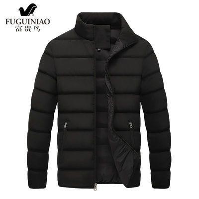 富贵鸟冬季中老年男士轻便棉衣爸爸装冬季防寒保暖外套棉袄