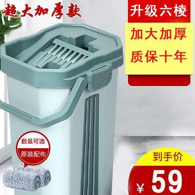 刮刮乐懒人拖把家用免手洗干湿两用网红瓷砖一拖净超大号墩布拖布