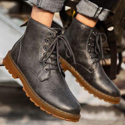 双星马丁靴男士英伦高帮皮靴休闲冬季保暖棉鞋男靴工装短靴子潮鞋