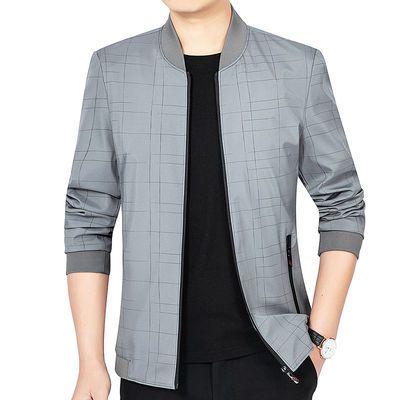 夹克男装外套秋冬季夹克衫中青年韩版休闲薄款上衣帅气潮流夹克衫