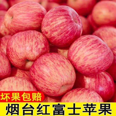苹果新鲜应季脆甜山东烟台红富士水果小冰糖心10斤5斤3斤整箱批发