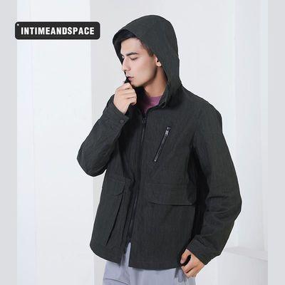 高端好品质外套男秋冬新款户外运动时尚潮流夹克上衣短款连帽上衣