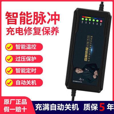 自动断电电动车电瓶车充电器48V60V72V超威天能爱玛雅迪智能通用