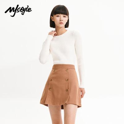 72214/MJstyle 秋冬新款ins圆领修身针织衫女-819190076-819190017