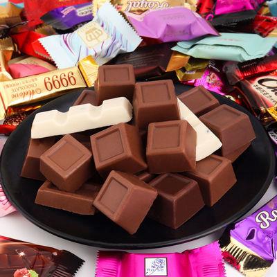 【100g-3斤装巧克力】混合巧克力黑巧克力夹心巧克力糖果喜糖批发