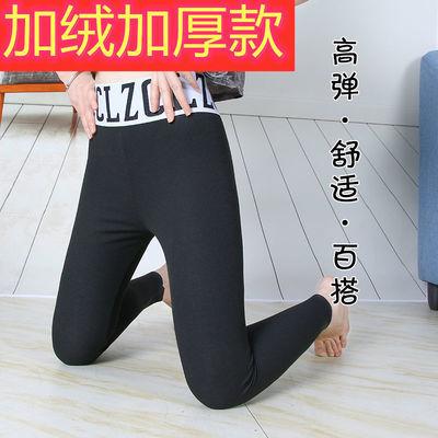 秋冬季打底裤网红款外穿薄款加绒加厚字母高腰紧身裤子女学生显瘦