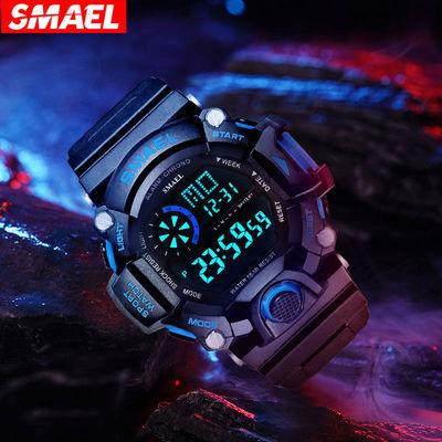 手表男学生电子表闹钟运动儿童韩版防水简约青少年夜光多功能手表