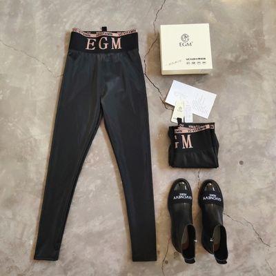 EGM抗菌小黑皮裤高腰显瘦外穿打底裤长裤打底裤子