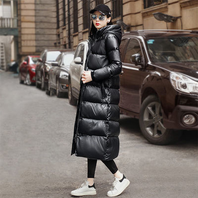 丝柏舍2020款网红冬季外套女韩货小香风羽绒服气质显瘦纯色长款