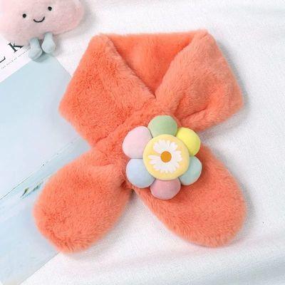 儿童围巾女冬季宝宝亲子保暖仿兔毛围脖冬天毛绒卡通男女孩子领巾
