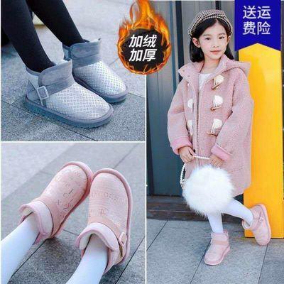 加绒加厚女童雪地靴儿童短靴男童棉鞋防水防滑保暖靴雪地棉靴冬季
