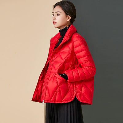 2020冬季新款立领棉服短外套女大码修身轻便轻薄仿羽绒服女短款【12天内发货】