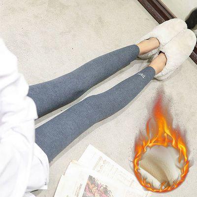 【加绒/不加绒】秋冬季加厚打底裤女外穿高腰显瘦小脚保暖裤子女
