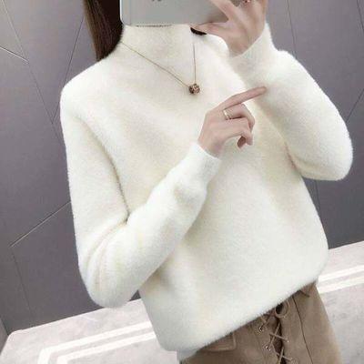 2020新款卫衣绒薄款高领女新款韩版秋冬套头打底衫短款百搭宽松