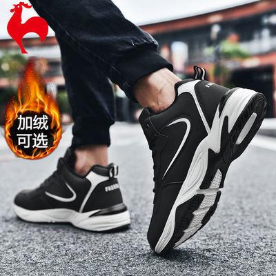 金鸡鞋子男韩版潮流运动鞋秋季男鞋高帮鞋休闲鞋加绒棉鞋冬大码鞋