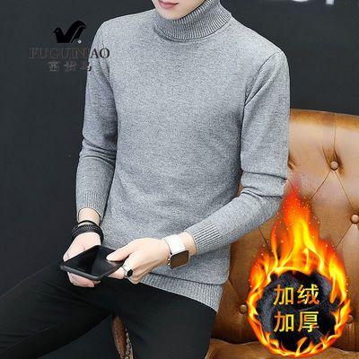 富贵鸟毛衣男冬季羊毛衫半高领中老年加厚保暖针织衫打底衫爸爸装