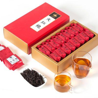 大红袍茶叶2020新茶正宗武夷岩茶肉桂乌龙茶浓香型红茶小泡礼盒装