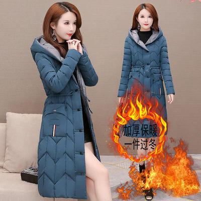 连帽棉衣外套女冬季2020新款韩版时尚中长款防风保暖修身显瘦棉服