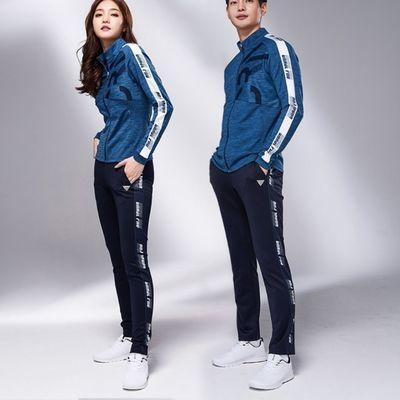 2020秋冬长袖拉链开衫运动球衣 韩版情侣套装 速干衣可以团体订购