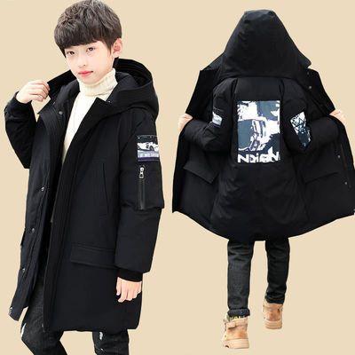 男童冬装棉衣外套2020新款儿童中大童男孩中长款加厚羽绒棉服15岁