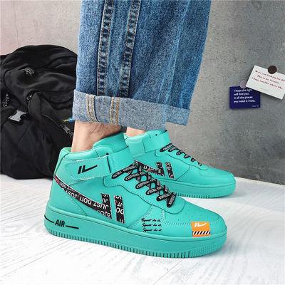 新款空军一号aj男鞋韩版潮流百搭高帮鞋子男学生休闲运动板鞋增高
