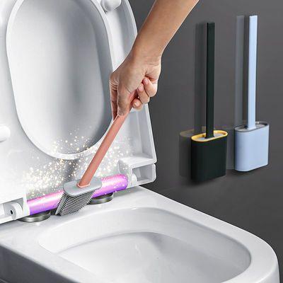 马桶刷子卫生间无死角多功能家用坐便清洁刷带底座洗厕所神器挂墙