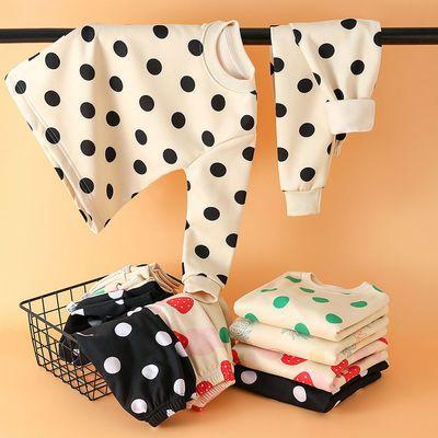 新款儿童保暖内衣加绒加厚套装男女童秋衣裤中大童婴幼儿宝宝睡衣