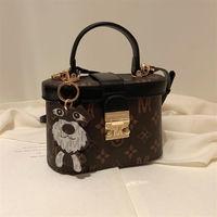 French miocra koly small mk old HUA box bag girl 2021 new fashion handbag one shoulder messenger bag