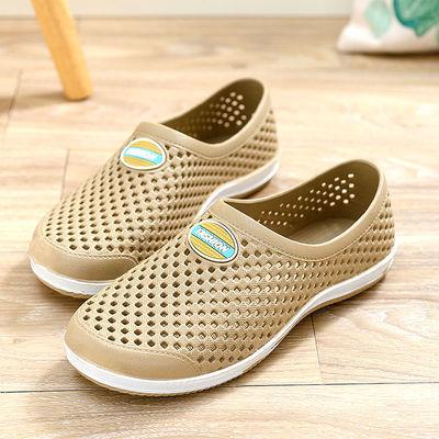 夏季洞洞鞋跑步鞋沙滩包头秋鞋防滑夏季旅游男拖鞋休闲男女凉拖鞋