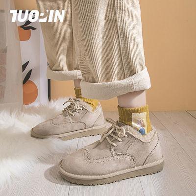 鮀品蛮蛮雪地靴女学生韩版加绒加厚防滑棉鞋冬季2020新款潮毛毛鞋