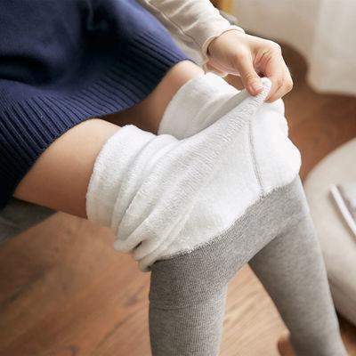 2020打底裤冬季加绒加厚棉竖条女外穿螺纹竖条高腰保暖裤一体裤