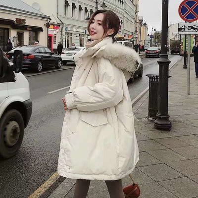 64991/东大门ins棉服女冬2020冬装新款韩版宽松大毛领加厚羽绒棉衣外套