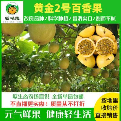 黄金百香果包邮广东自家大果园新品纯甜现摘特级当季新鲜水果批发