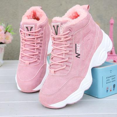 棉鞋女冬季加绒女鞋保暖高帮鞋雪地靴女休闲运动鞋2020新款潮马丁