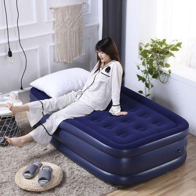 75243/舒士奇 充气床双人家用单人双层床垫折叠旅行加厚户外便携气垫床
