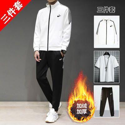 三件套男士运动服套装秋冬季运动套装男休闲跑步健身弹力潮流韩版