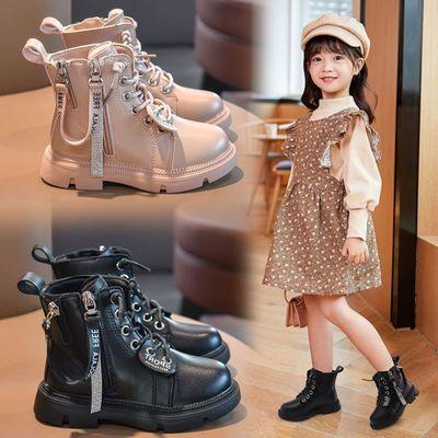 女童马丁靴2020新款中筒加绒短靴中大童英伦风防滑耐磨公主风甜美