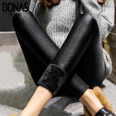 【不起球不褪色】秋冬加绒加厚保暖显瘦光泽打底裤女外穿铅笔裤