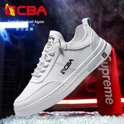 CBA男鞋白色板鞋秋季新款休闲鞋子冬季运动鞋空军一号小白鞋男鞋