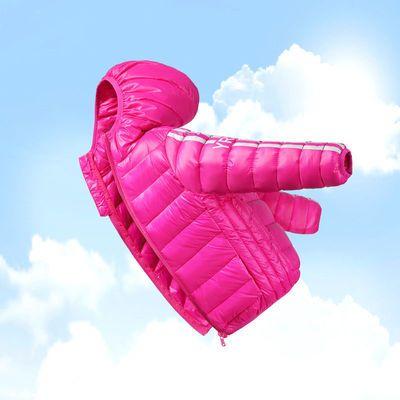 童装新款儿童羽绒服轻薄短款男童女童小孩中大童宝宝冬季轻便外套