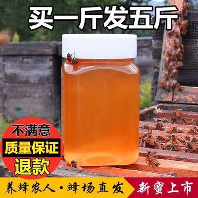 正品蜂蜜带花香 正宗农家自产自销深山纯正野生百花蜜结晶土蜂蜜
