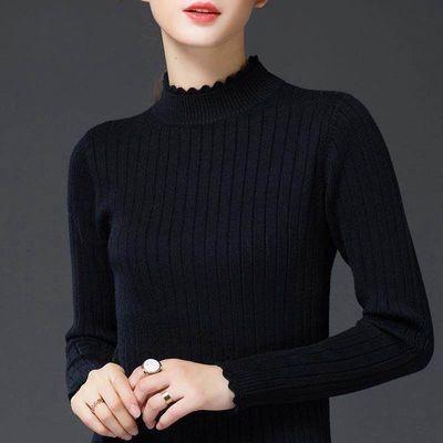 妈妈秋装针织打底衫2020新款40岁50中老年女秋冬装半高领长袖上衣